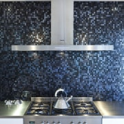 Kitchen designed by Yellow Fox, manufactured by Quality countertop, flooring, interior design, kitchen, tile, wall, black