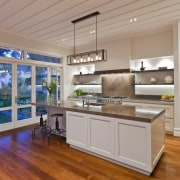 Kitchen designed by Robyn Labb Kitchens - Kitchen cabinetry, countertop, cuisine classique, floor, hardwood, interior design, kitchen, real estate, wood flooring, gray
