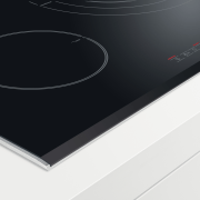 Induction Stovetop. Pot Detection. Auto cooking programs. Frying brand, font, product, product design, black, white