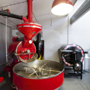 Roma Coffee Roaster - Roma Coffee Roaster - interior design, red, gray