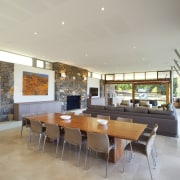 This house was designed by Tim Wright AIA ceiling, dining room, house, interior design, living room, real estate, gray