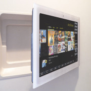Kitchen. Home Automation. Technology. Future. Onetouch. display device, electronic device, multimedia, screen, white