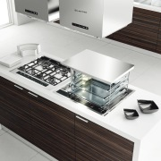 Here is a view of Kleenmaid appliances. - countertop, furniture, interior design, kitchen, product, product design, sink, table, white