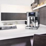 Delongi Coffee Machine - Delongi Coffee Machine - countertop, home appliance, interior design, kitchen, kitchen appliance, product, product design, small appliance, white