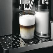 Delongi Coffee Machine - Delongi Coffee Machine - caffè macchiato, cappuccino, coffee, coffeemaker, drink, espresso, espresso machine, home appliance, product design, small appliance, black, gray