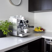 Nero Italia espresso pod - Nero Italia espresso countertop, home appliance, interior design, kitchen, product design, small appliance, gray, white