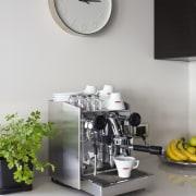 Nero Italia Coffee Maker - Nero Italia Coffee furniture, interior design, product design, small appliance, table, gray