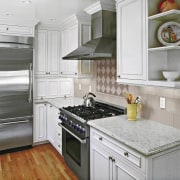 Kitchen by Nancy Del Santo - Kitchen by cabinetry, countertop, cuisine classique, floor, home, home appliance, interior design, kitchen, kitchen appliance, room, gray