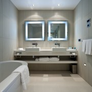 View of bathroom at the Novotel Auckland Airport bathroom, ceiling, floor, interior design, product design, room, sink, gray