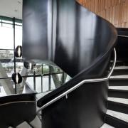 Novotel Auckland Airport - Airport hotel. Features subtle architecture, chair, furniture, interior design, product design, table, black, gray