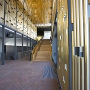 This is the Perth State Theatre, designed by architecture, building, ceiling, daylighting, floor, flooring, lobby, stairs, wood, brown