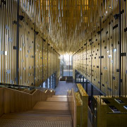 This is the Perth State Theatre, designed by architecture, building, ceiling, interior design, light, lighting, lobby, brown