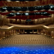 This is the Perth State Theatre, designed by auditorium, concert hall, musical instrument accessory, opera house, performing arts center, stage, theatre, brown, red