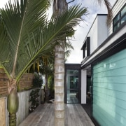 This new house was designed by Richard Furze architecture, arecales, home, house, outdoor structure, palm tree, plant, property, real estate