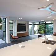 This new house was designed by Richard Furze daylighting, estate, house, interior design, property, real estate, window, gray