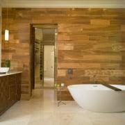 This bathroom has been remodeled by Douglas Weiss architecture, bathroom, ceiling, estate, floor, flooring, hardwood, home, interior design, laminate flooring, room, tile, wall, wood flooring, brown, orange
