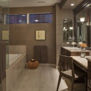 This master suite was designed by the Gary countertop, flooring, interior design, kitchen, room, brown