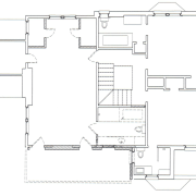 This master suite's architects were James Hess and area, black and white, design, diagram, drawing, floor plan, line, plan, product, product design, structure, technical drawing, white