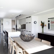 This house was designed by Hamish Cameron NZIA house, interior design, living room, real estate, room, table, white