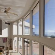 These windows were created with Glasshape's new curved architecture, ceiling, daylighting, door, estate, home, interior design, property, real estate, window, gray