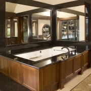 This is the master suite of the house cabinetry, countertop, interior design, kitchen, brown, orange
