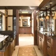 This is the master suite of the house countertop, interior design, kitchen, brown