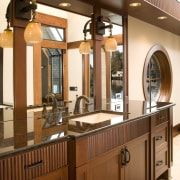 This is the master suite of the house cabinetry, countertop, cuisine classique, furniture, interior design, kitchen, brown, orange