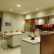 This house was designed by Mark Wilson of cabinetry, countertop, interior design, kitchen, real estate, room, brown, orange