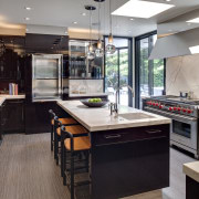 View of kitchen in a 1970's house that countertop, interior design, kitchen, real estate, gray, black