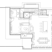 The interior of this home was designed by architecture, area, black and white, design, diagram, drawing, floor plan, line, line art, plan, product, product design, square, structure, technical drawing, text, white