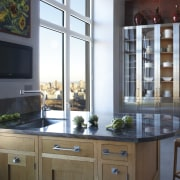 This kitchen was designed by Robert Schwartz of cabinetry, countertop, cuisine classique, interior design, kitchen, window