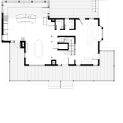 This home and kitchen was designed by Finne architecture, area, design, diagram, drawing, elevation, floor plan, font, line, plan, product, product design, text, white