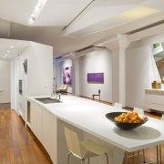 Here is a view of a kitchen designed apartment, countertop, interior design, kitchen, real estate, room, table, gray