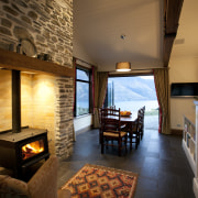Classic or modern; gas or wood-burning; or for fireplace, interior design, living room, real estate, room, brown