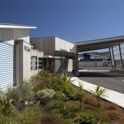 Exterior of school with landscaping. - Exterior of architecture, building, facade, house, real estate