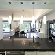 island top dark granite, kitchen sink and tap, countertop, interior design, kitchen, living room, real estate, room, gray