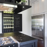 island dark colours, cabinets and walls in white cabinetry, countertop, home appliance, interior design, kitchen, kitchen appliance, kitchen stove, small appliance, black, gray