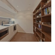 A view of the kitchen prior to the home, interior design, property, real estate, white, gray