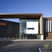 Exterior of Blum building. - Exterior of Blum architecture, building, commercial building, corporate headquarters, elevation, facade, headquarters, mixed use, property, real estate, black, teal
