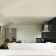 stairway, kitchen, white panelled doors - stairway, kitchen, architecture, ceiling, daylighting, home, house, interior design, lighting, window, white