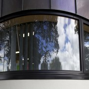 Curved windows. - Curved windows. - architecture | architecture, building, facade, glass, window, black