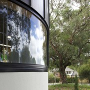 Curved windows. - Curved windows. - architecture | architecture, facade, glass, home, house, plant, tree, window, white