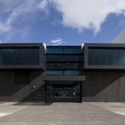 TECT Arena buildling. - TECT Arena buildling. - architecture, building, facade, house, real estate, sky, gray, black