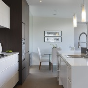 kitchen close with cookingspace on left and workspace bathroom, countertop, home, interior design, kitchen, real estate, room, sink, gray