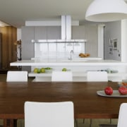 more of the dining table. - more of architecture, countertop, interior design, kitchen, living room, table, white, brown, gray