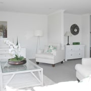 all white interior lounge suite - all white floor, furniture, home, interior design, living room, product, room, wall, white, gray