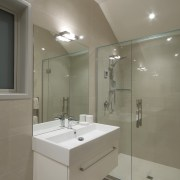 Second ensuite with glass shower. bathroom, interior design, property, real estate, room, gray