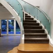 Glass staircase. - Glass staircase. - daylighting | daylighting, floor, glass, handrail, hardwood, interior design, stairs, wood