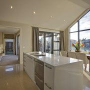 Open plan kitchen - Open plan kitchen - countertop, estate, home, house, interior design, kitchen, property, real estate, window, brown, gray