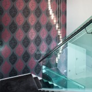 Staircase from top. - Staircase from top. - angle, architecture, ceiling, daylighting, design, floor, flooring, glass, interior design, room, tile, wall, wallpaper, black